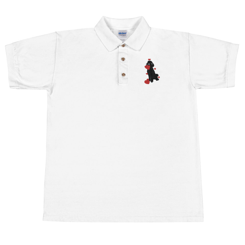 Heart Embroidered Polo Shirt