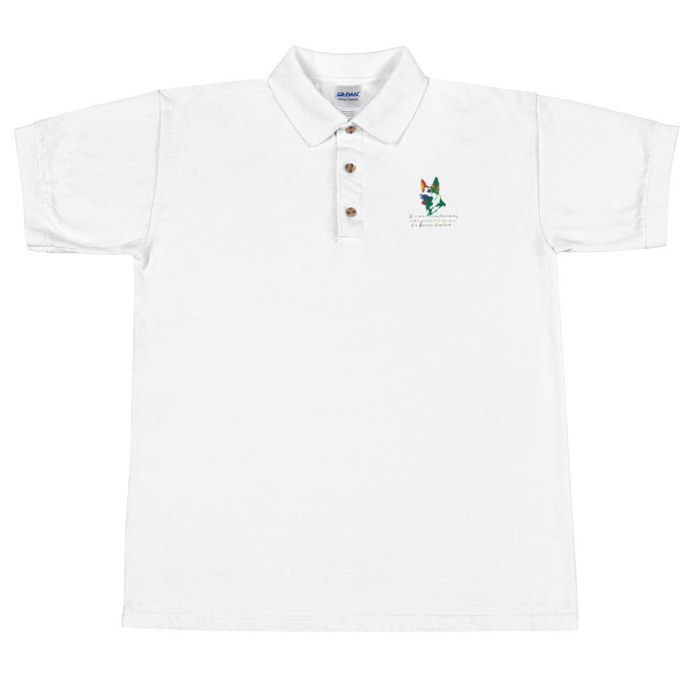 Friendship Embroidered Polo Shirt