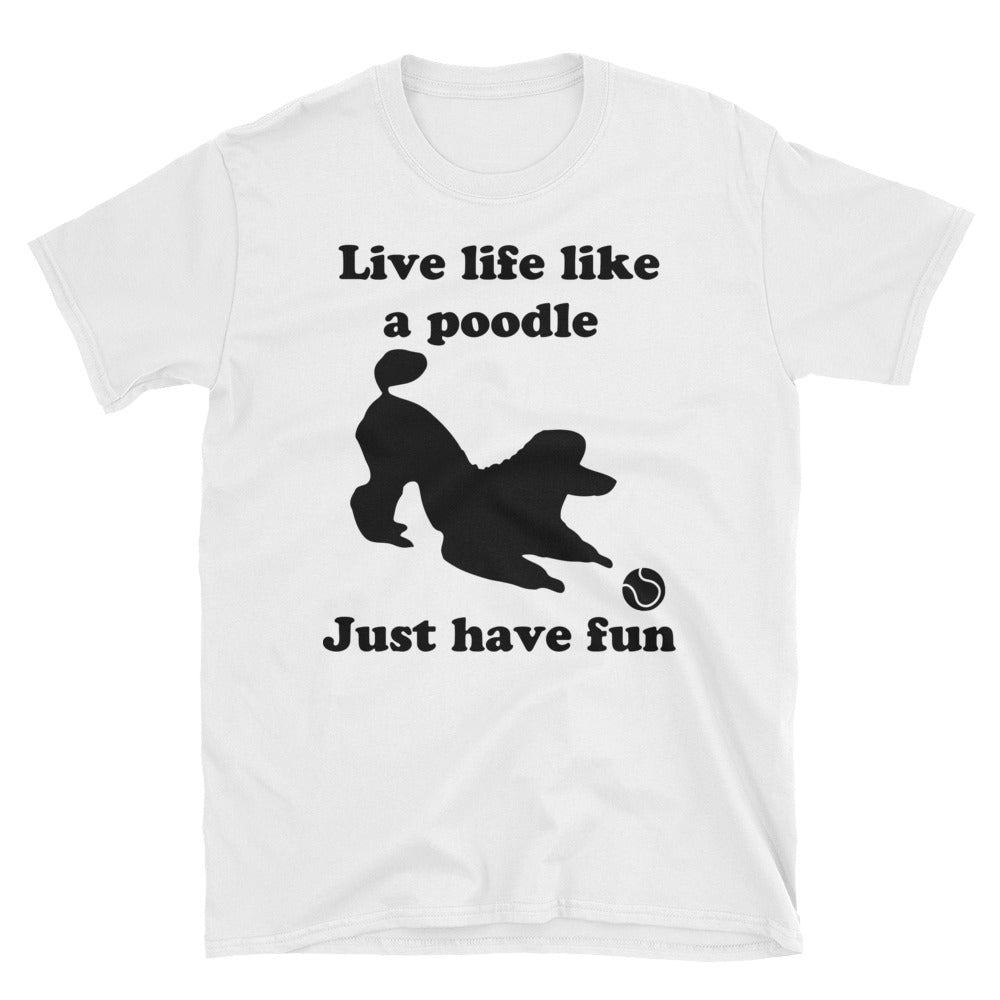 Poodle with ball Short-Sleeve Unisex T-Shirt