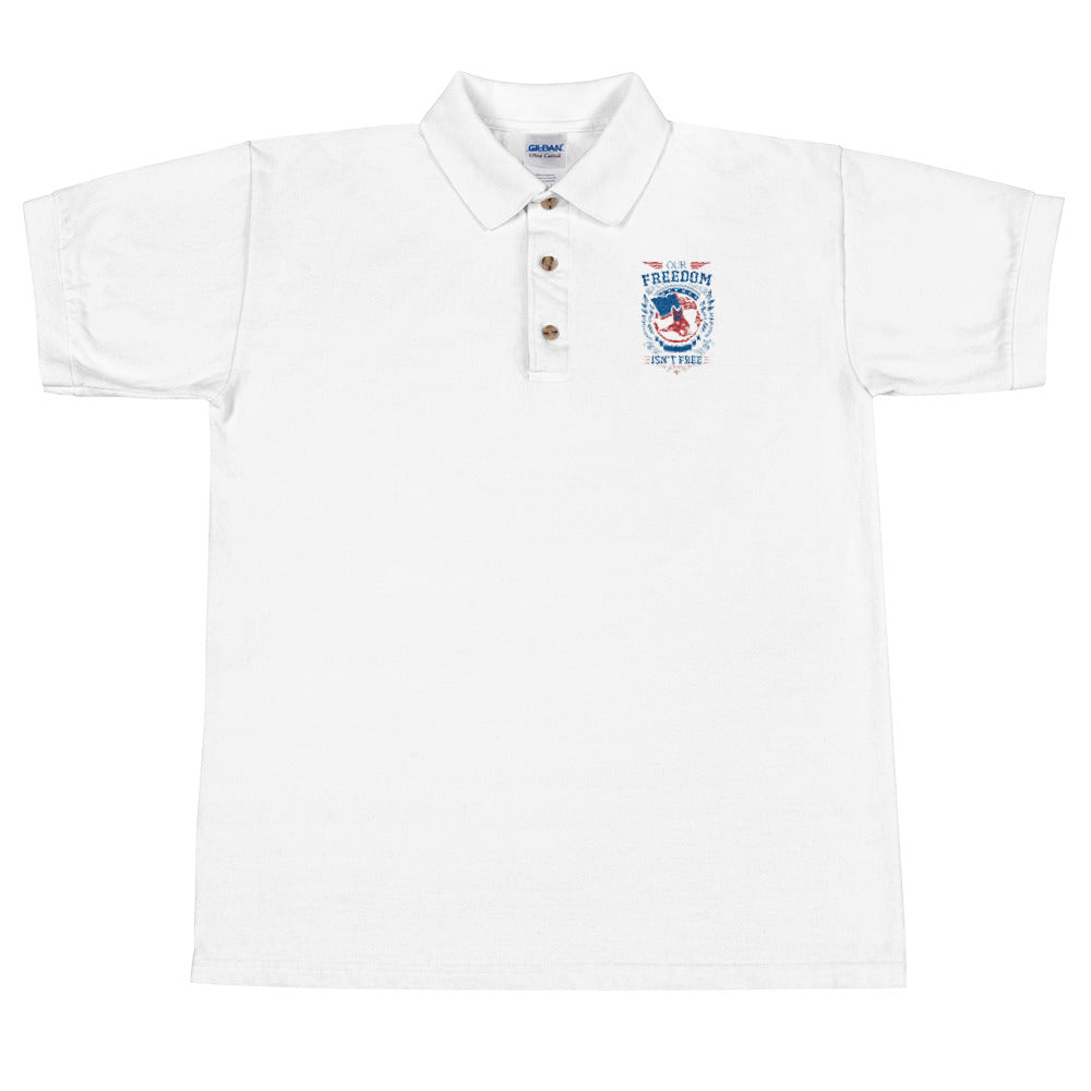 Freedom Embroidered Polo Shirt