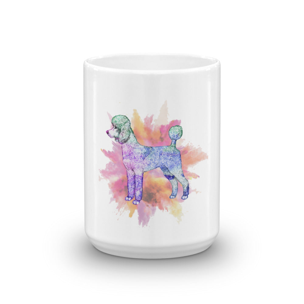 Poodles add color to your day mug