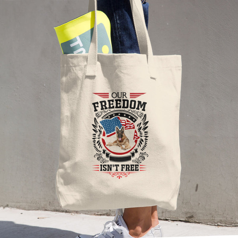 Dog Cotton Tote Bag