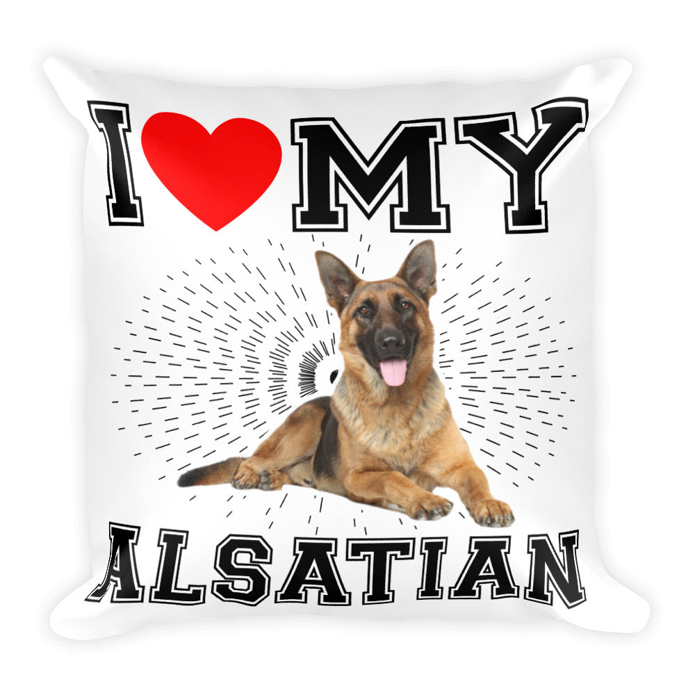 Alsatian Square Pillow