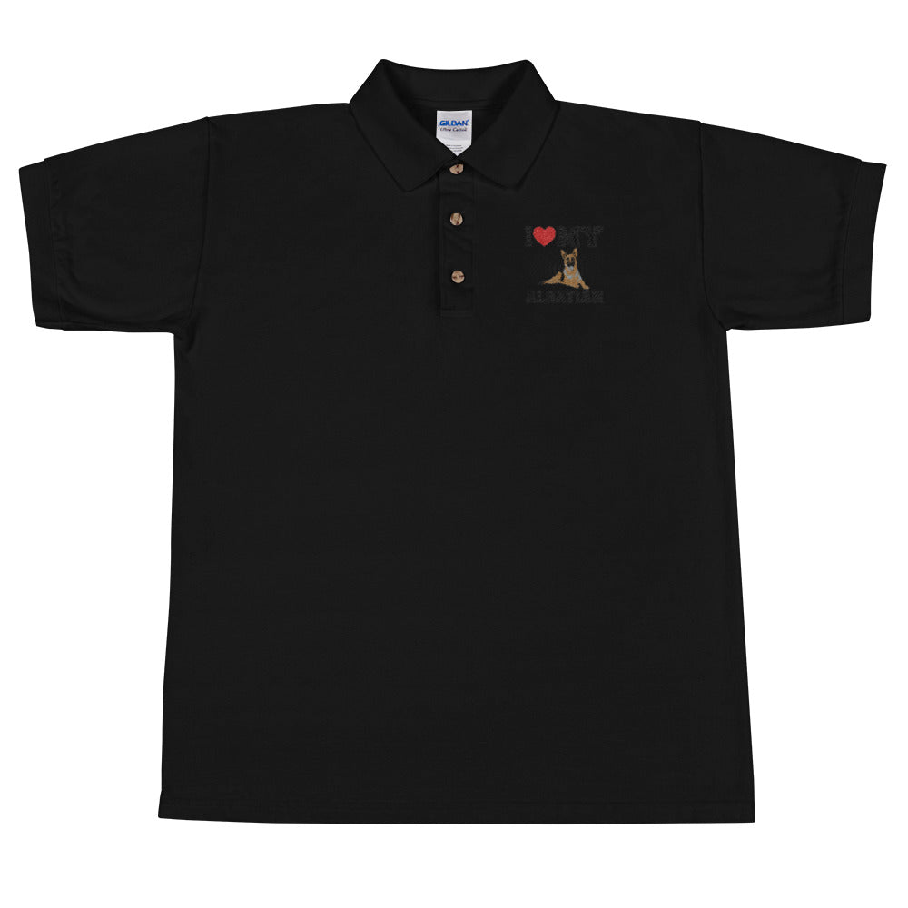 Alsatian Embroidered Polo Shirt