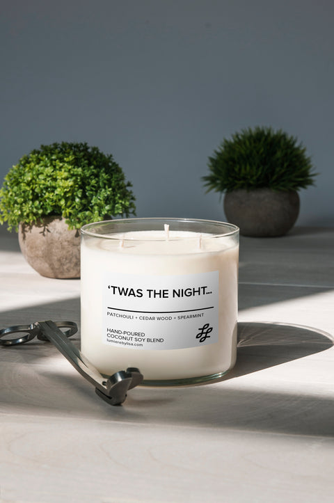 'Twas the Night 3-Wick Jar