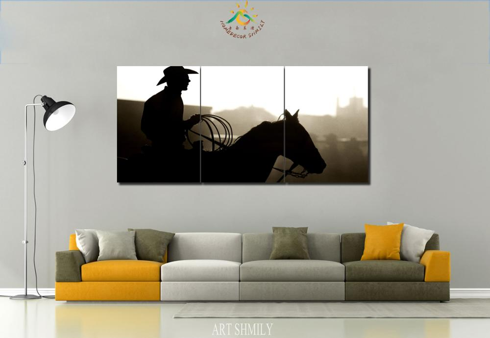 3 4 pieces cowboy pictures modern wall art canvas printed painting pos zippy western