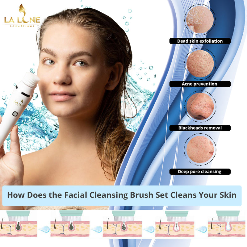 4 IN 1 Facial Cleansing Brush Set