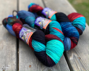 Dryad Organic Worsted - The End of Time Colorway