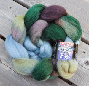 Corriedale Roving - Minerva McGonagall Colorway