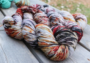 Laurel Nylon Fingering - Smaug Sprinkle Dye