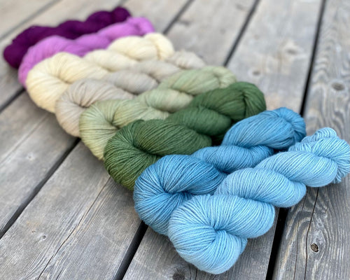 Dryad Organic Worsted - The March Girls Gradient Set