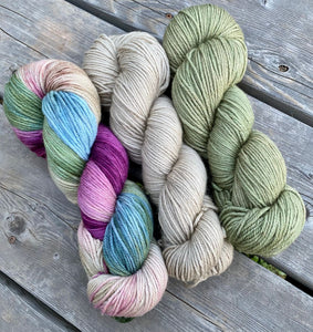 "Dryad Organic Worsted - March Girls ""Jo"" 3-skein Set"