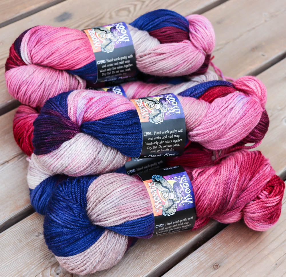 Rowan DK - May Queen Colorway and Dark Pink Semisolid