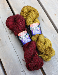 Wonder Woman, Fingering Weight Sets, Red and Gold from WW Wrap Pattern