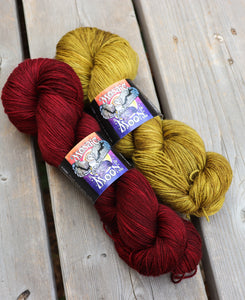 PRE-ORDER Wonder Woman Red, Gold, and/or Dark Blue on Fingering Weight Yarns