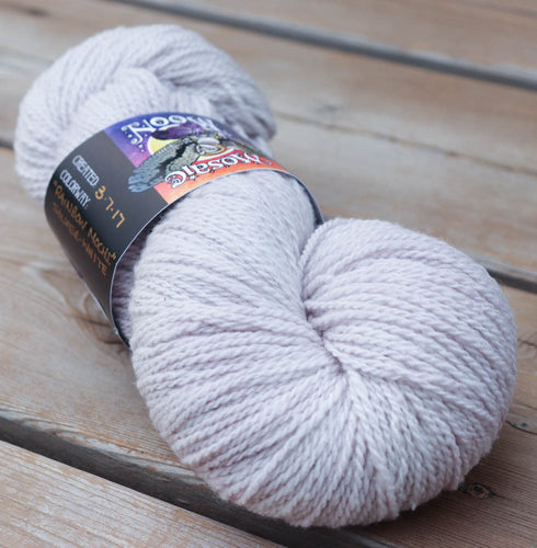 Custom Dye -- Silver-White Semisolid, You Choose Yarn Type