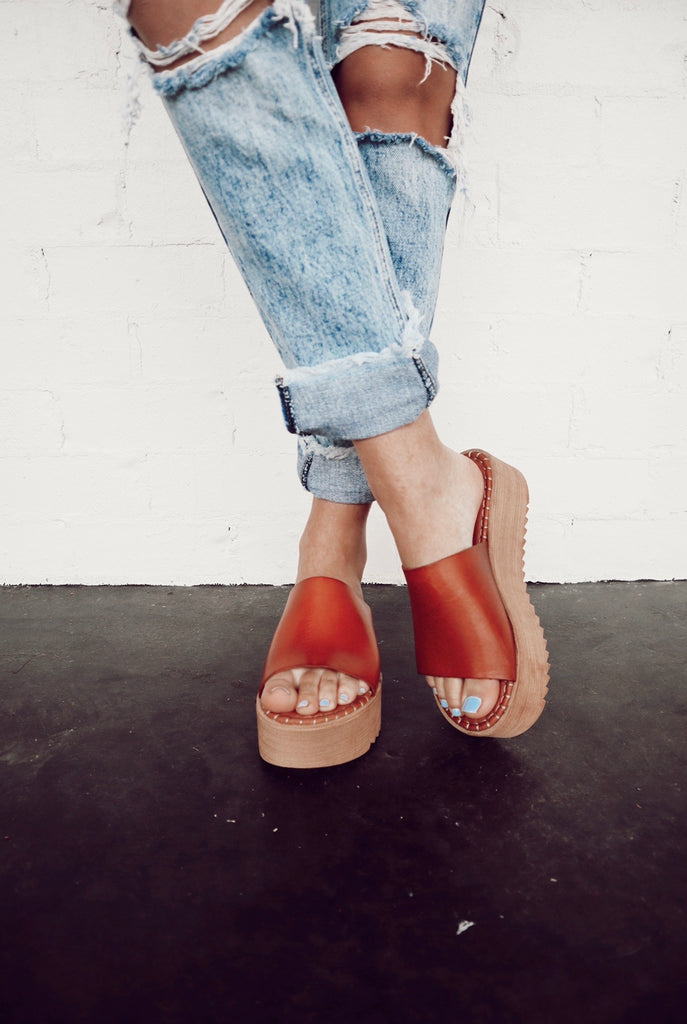 musse and cloud kristel platform sandal - tan