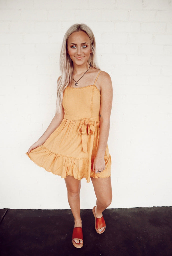 mustard sundress