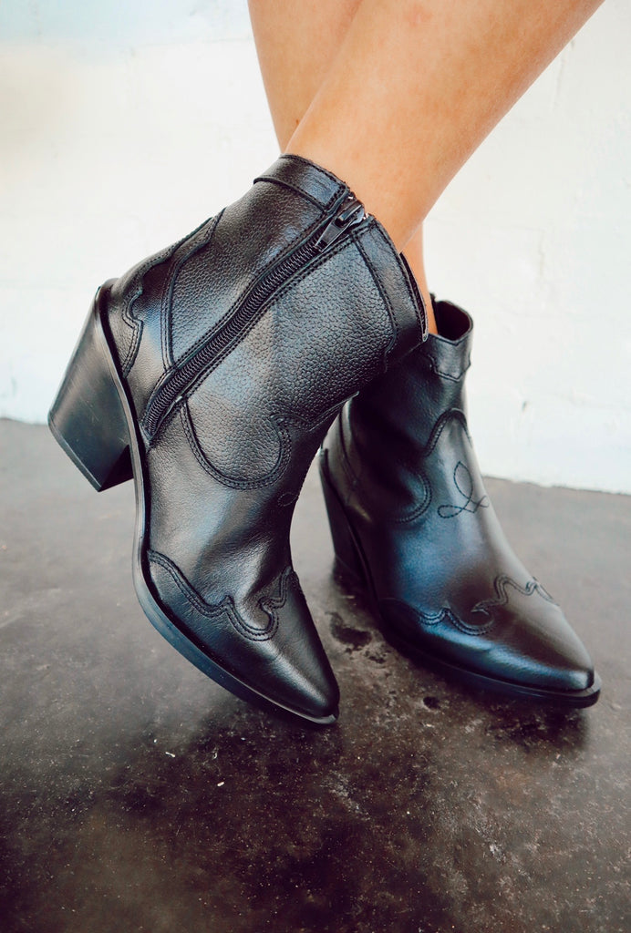 "musse and cloud ""brami"" booties - black"