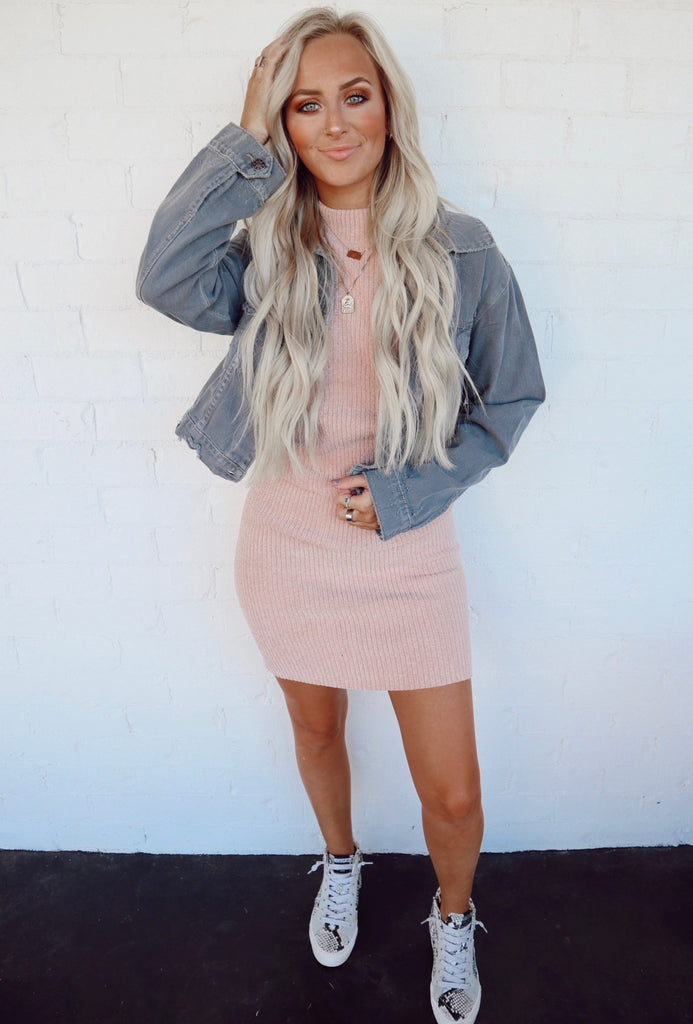 washed gray denim jacket