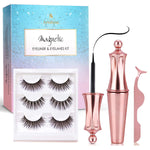 Arishine Magnetic Eyeliner and Magnetic Eyelash Kit - Magnetic Eyelashes with Eyeliner - Eyelashes With Natural Look - Comes with Applicator - no Glue Needed