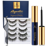 Arishine magnetic lashes eyelashes with eyeliner, magnetic eyeliner and magnetic eyelash kit, eyelashes with natural look comes with applicator no glue needed