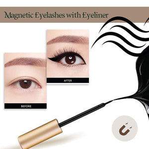 Arishine Magnetic Eyeliner and Lashes Kit,  Magnetic Lashes Set [3 Pairs]-KWF