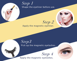 Natural 10 Pair Arishine Magnetic Eyeliner and Lashes Online