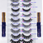 Arishine Gorgeous and Flawless 10 Different Pairs of False Magnetic Eyelashes and Eyeliner Kit with Applicator Tool