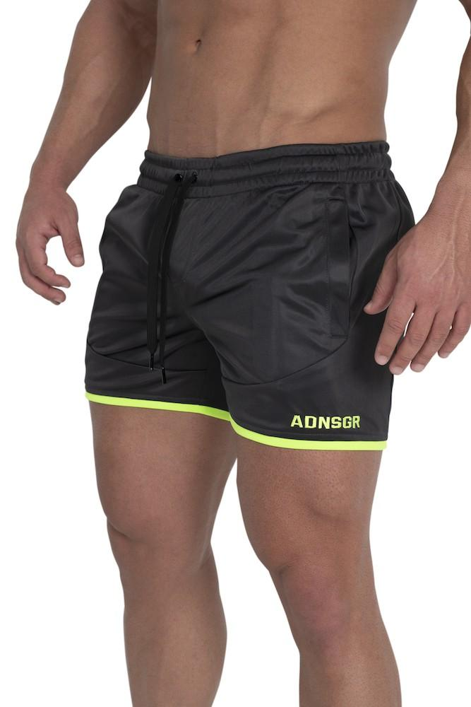 Adonis Gear Envy Shorts - Gun Metal/Fluro Green