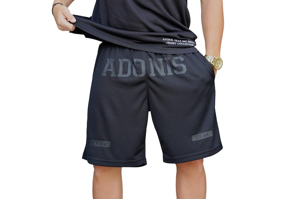 Adonis Gear HAMMA Gym Shorts - Black/Black
