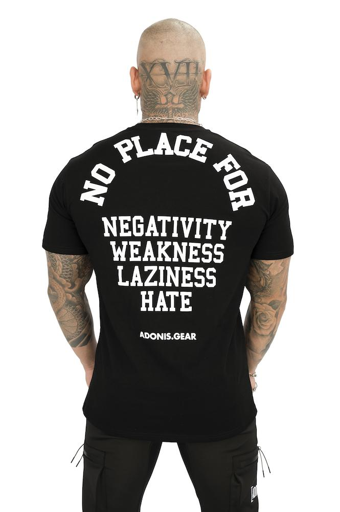 Adonis Gear No Place For Tee - Black