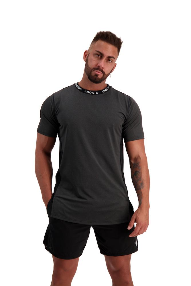 Adonis Gear Pursuit 2.0 Tee - Black/Grey