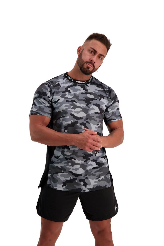 Adonis Gear Pursuit 2.0 Tee - Black/Grey Camo