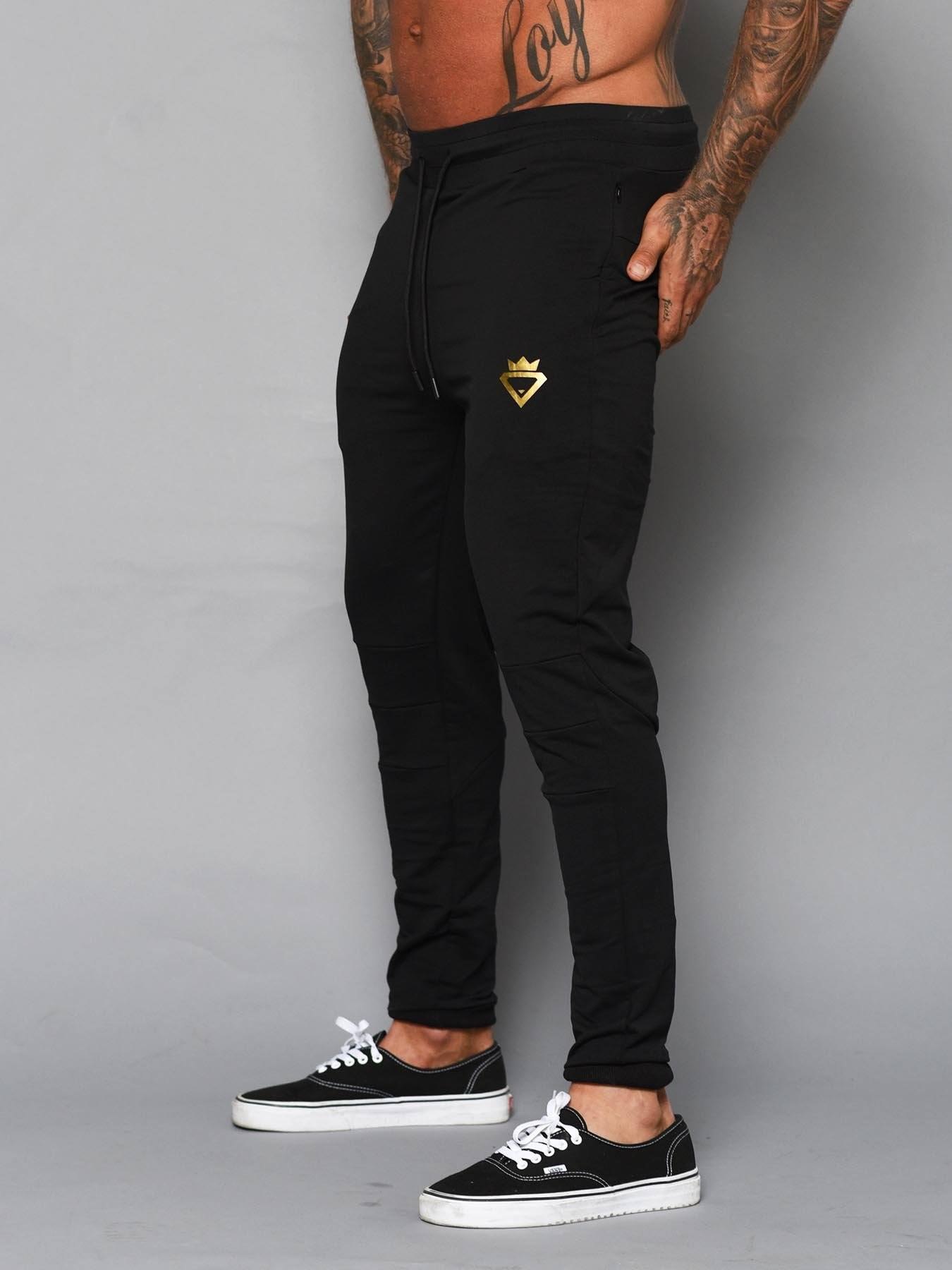 Beast Aesthetic Tracksuit Pants - Black