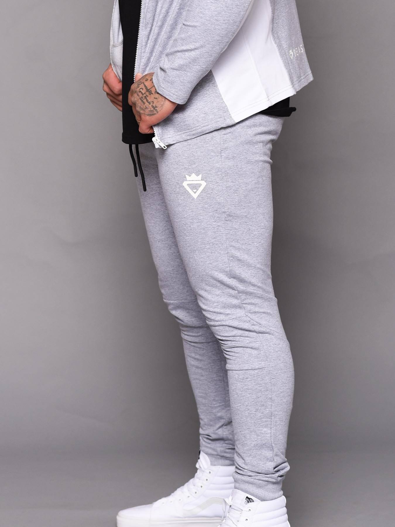 Beast Aesthetic Tracksuit Pants - Grey