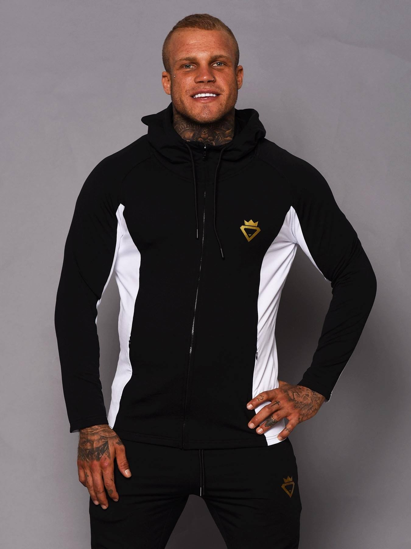 Beast Aesthetic Two Tone Hoodie - Black