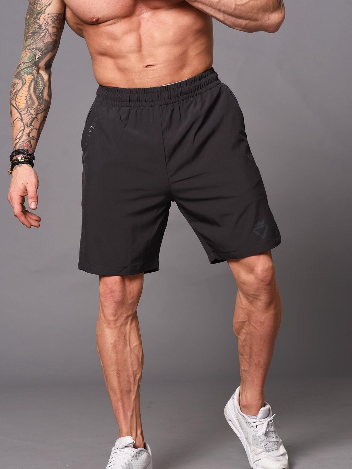 Beast Bodybuilding Shorts - Dark Grey