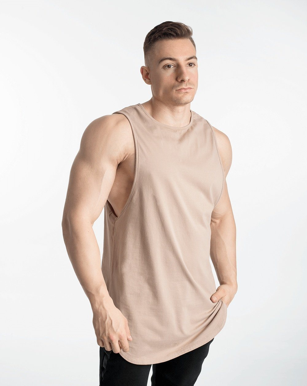 Biink Cut-Off Tank - Taupe