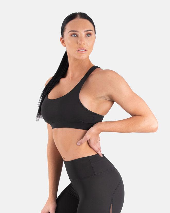 Biink Staple Mesh Sports Bra - Black
