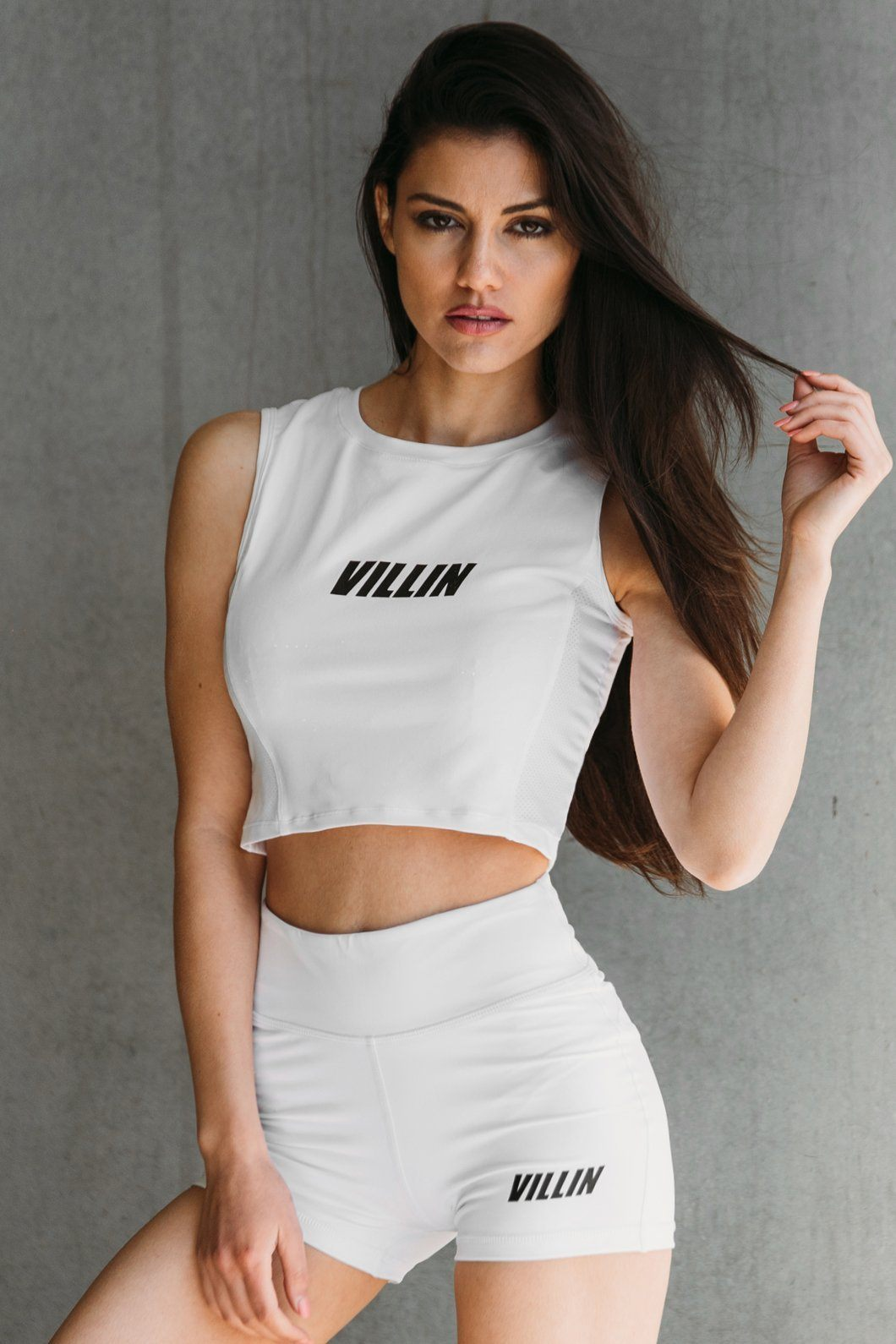 Brick City Villin Hype Crop Tank - Ice White