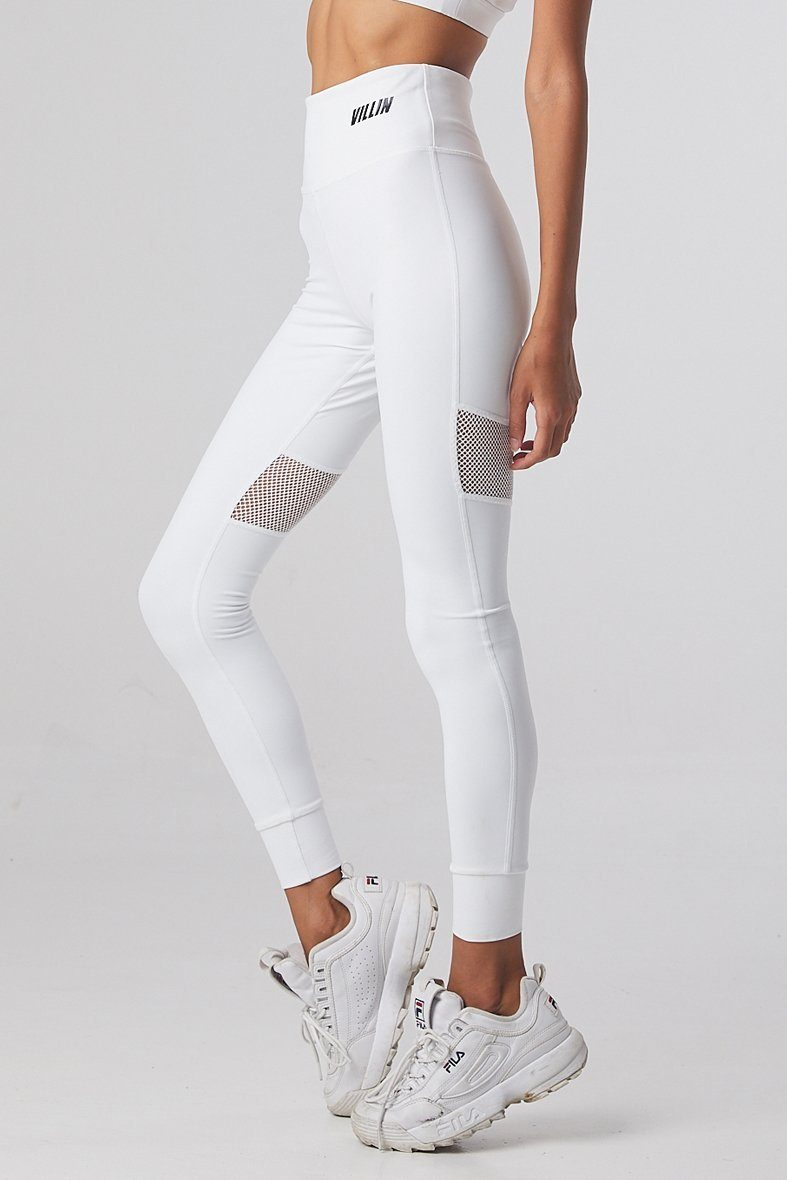 Brick City Villin Missfit Mesh Tights - White