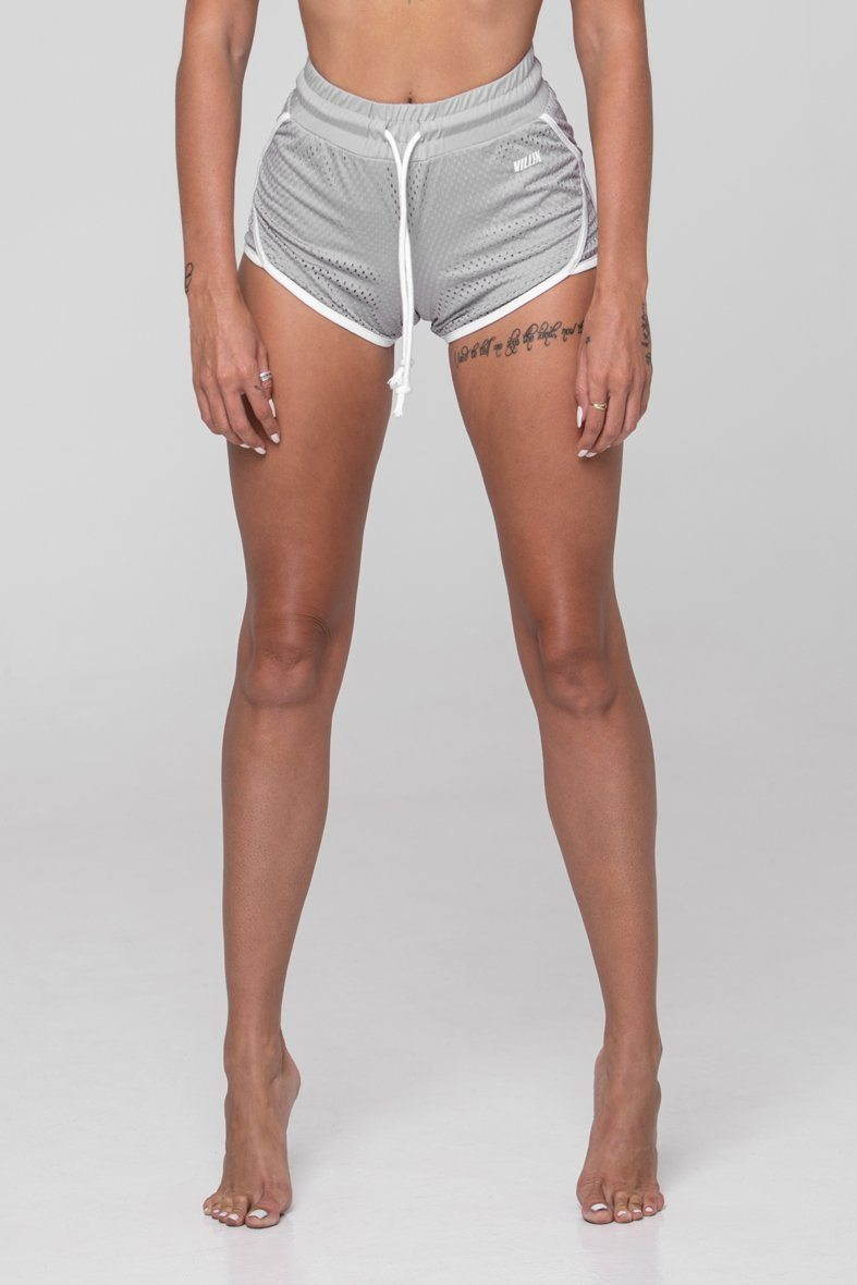 Brick City Villin Player Mesh Shorts - Grey