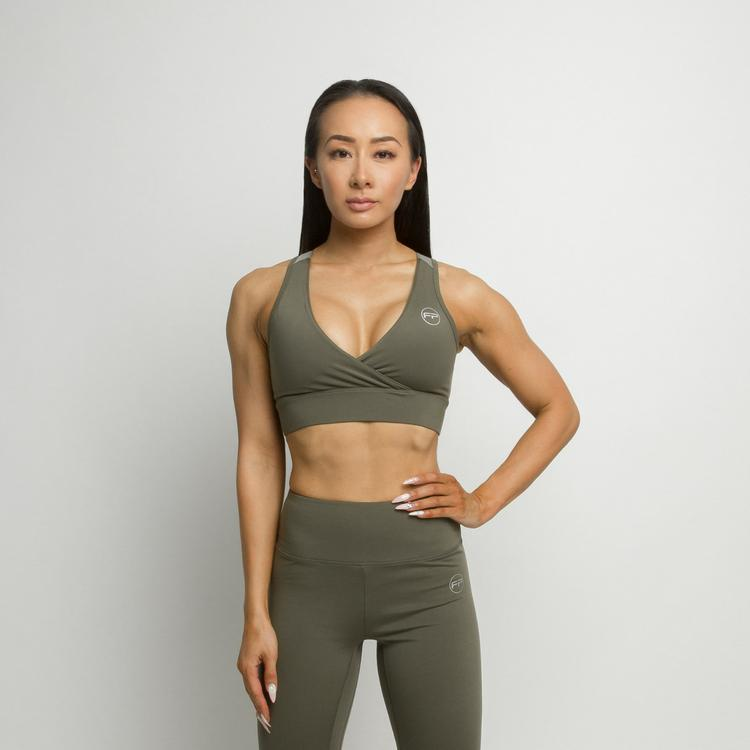 FitPro Flawless Sports Bra - Olive Green
