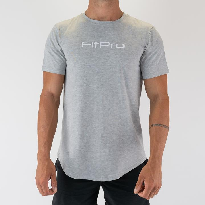 FitPro Scoop Tee - Grey