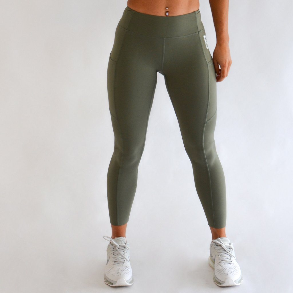 FKN Gym Wear A2G Gym Leggings | Khaki