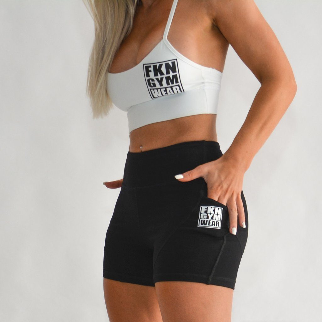 FKN Gym Wear Pocket Gym Shorts | Black
