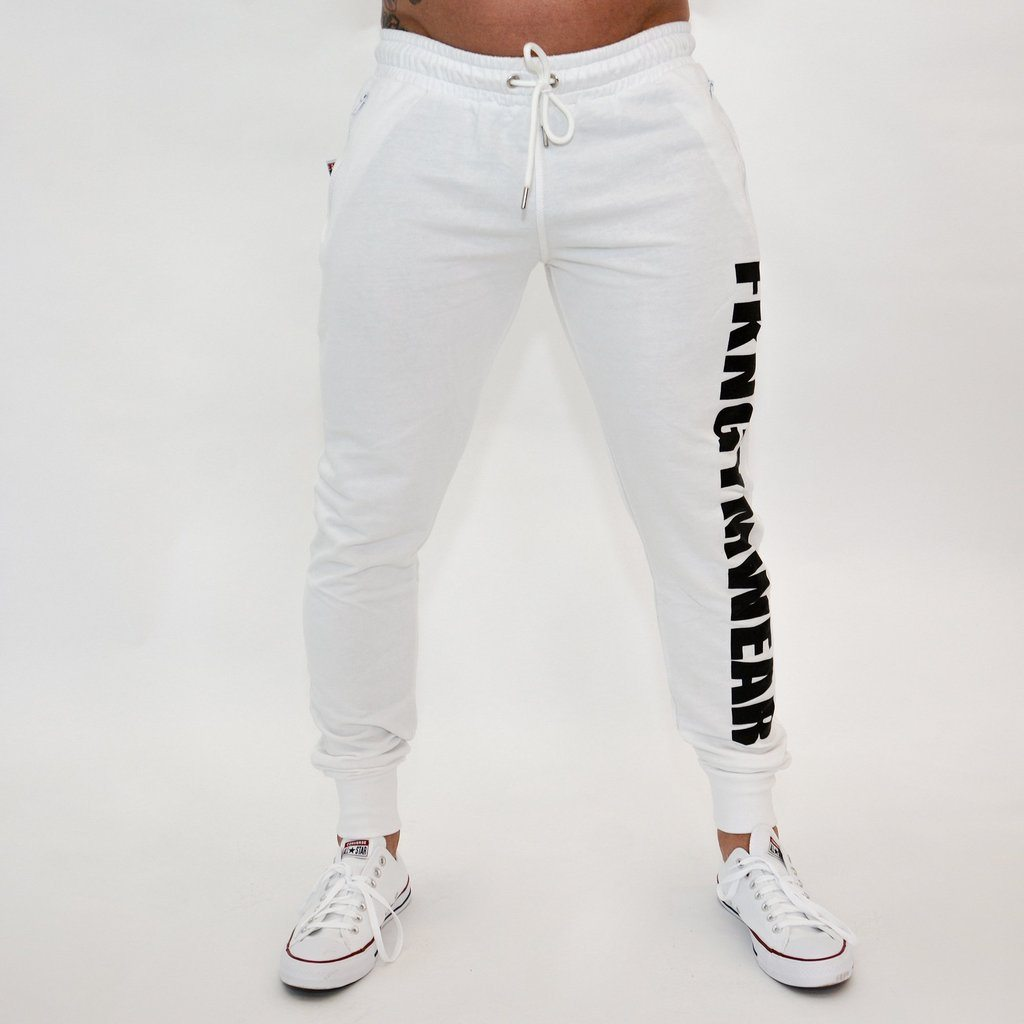 FKN Gym Wear Quadfit Track Pant - White