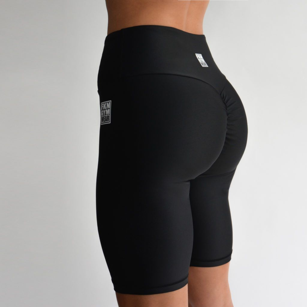 FKN Gym Wear Scrunch Bike Shorts - Black