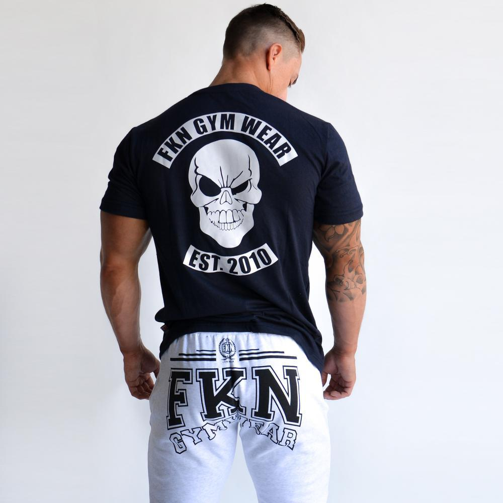 FKN Gym Wear Skull Logo Tee - Navy